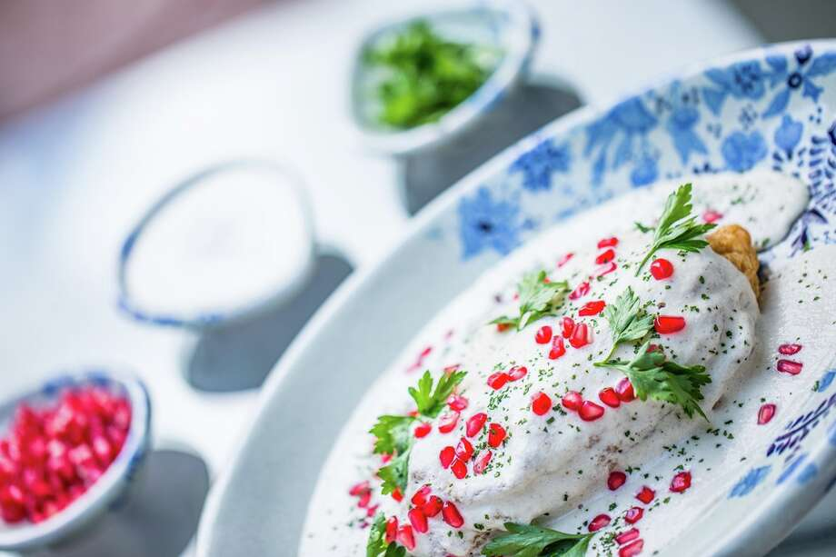 Chiles en Nogada is a traditional dish from Puebla, Mexico. Photo: Rosewood Puebla
