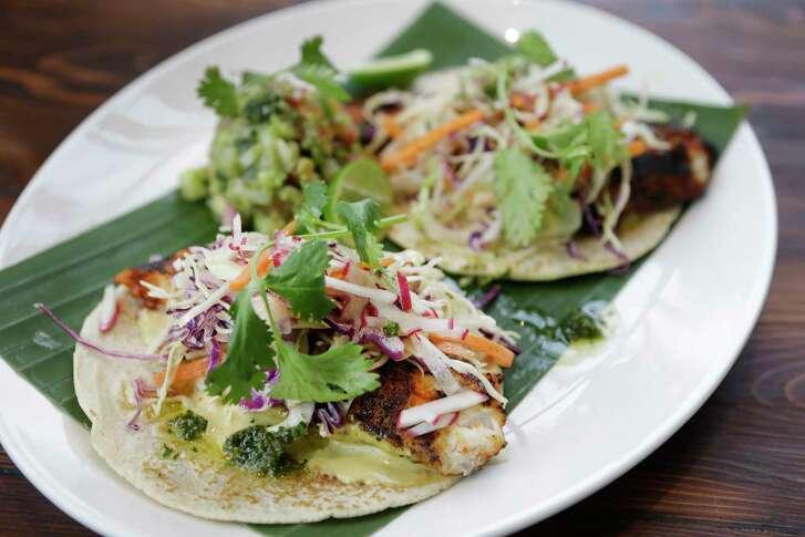 Tacos mariscos at Goode Company Kitchen & Cantina.