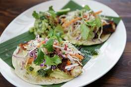 Tacos mariscos at Goode Company Kitchen & Cantina.