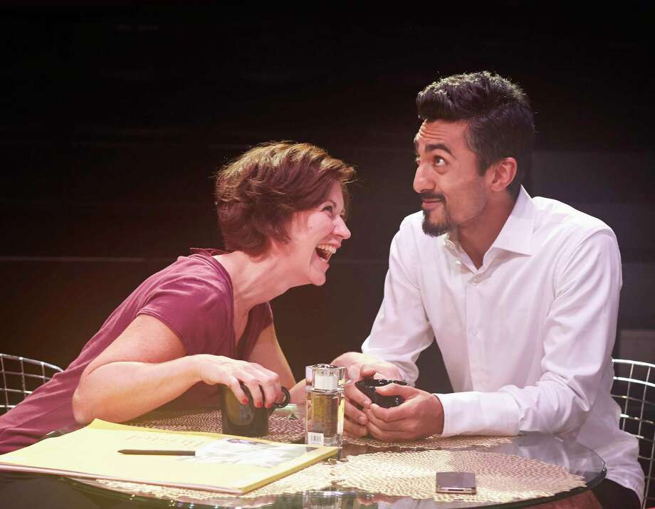 "Christy Watkins and Gopal Divan in 4th Wall Theatre Company's production of ""Disgraced."" Photo: Gabriella Nissen"