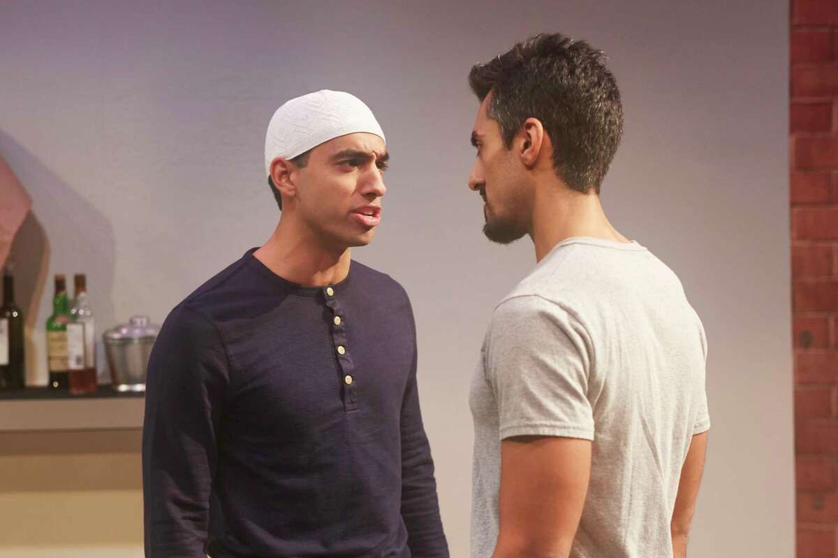 """Ash Slaughter and Gopal Divan in 4th Wall Theatre Company's production of """"Disgraced."""""""