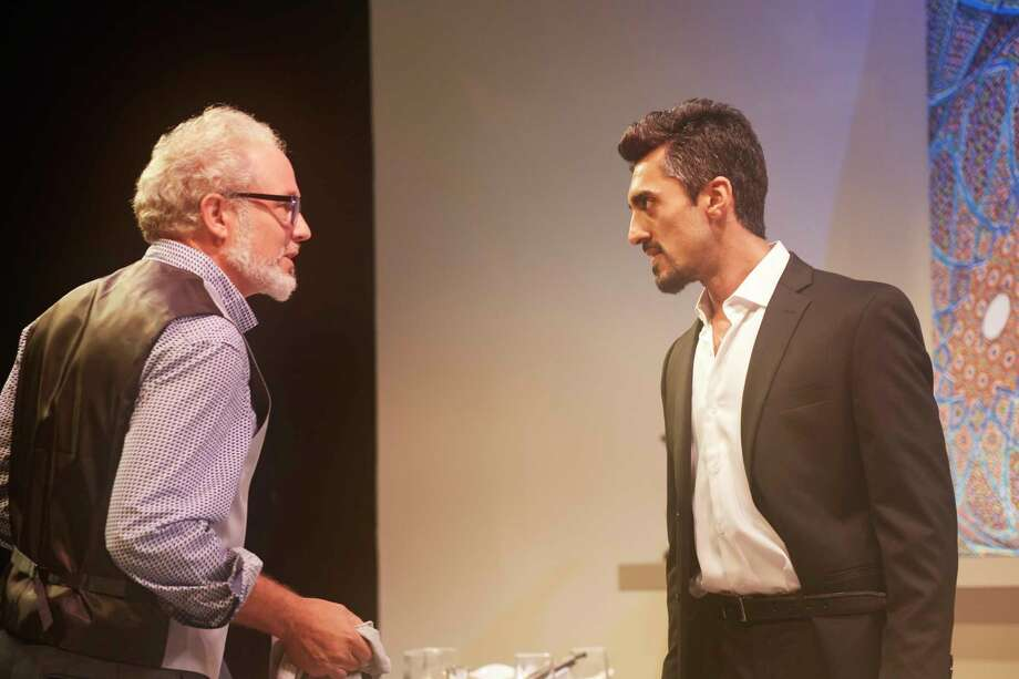 "Philip Lehl, left, and Gopal Divan appear in 4th Wall Theatre Company's production of ""Disgraced."" Photo: Gabriella Nissen"