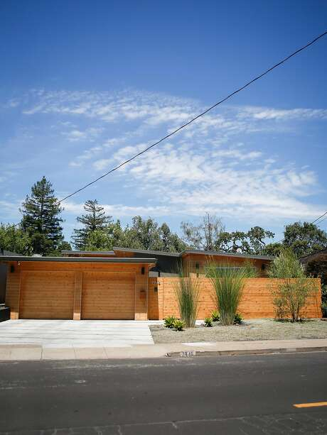 Exterior of remodeled home in San Carlos of Susan Wang and James Czaja. Photo: Nicole Boliaux, The Chronicle
