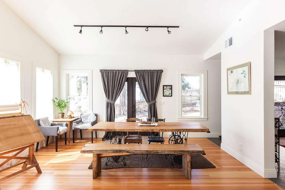 The dining room of a remodeled 1930s home near downtown Nevada City. Photo: Kat Alves Photography