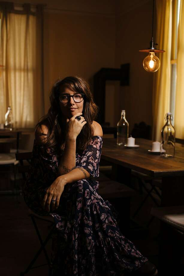 Megan Hart, director of Polly's Paladar, in the dining space of their living room in Nevada City. Photo: Mason Trinca, Special To The Chronicle