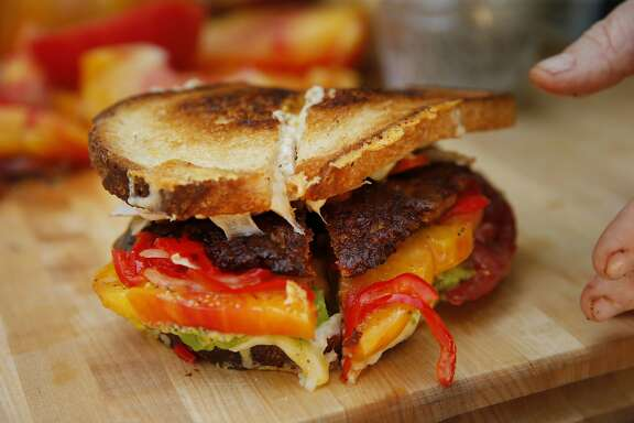 The Works sandwich made by Kendra Kolling of The Farmer's Wife is seen at The Barlow on Tuesday, Aug. 22, 2017, in Sebastopol, Calif.