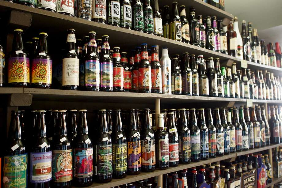 The City Beer Store, located at 1168 Folsom St. in San Francisco, CA, has a large selection of bottled beers for sale. Photo: Laura Morton, SFC