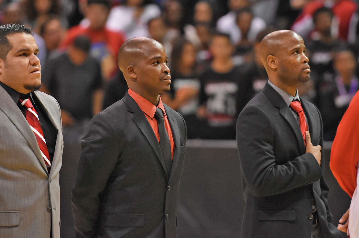From left to right: Tony Herrera, Emmanuel Olatunbosun, Andrew Cross. The Cy Lakes Basketball coaches found themselves in a radically different situation in 2017 than the year before, with the top four scorers from a Regional Finals team departing. Despite the challenges, or perhaps because of them, the rebuilding year has been as much fun for the three coaches as any of the prior seasons.
