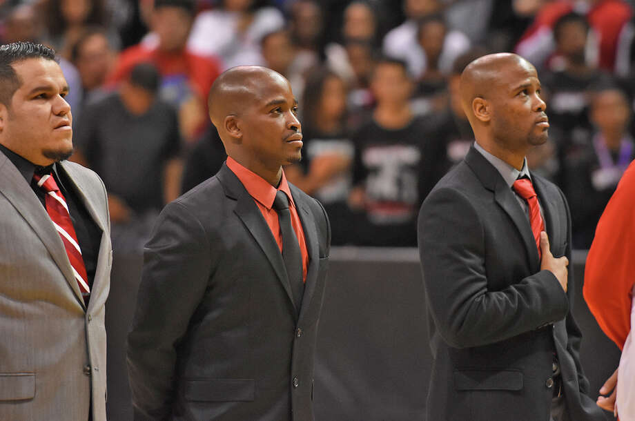 From left to right: Tony Herrera, Emmanuel Olatunbosun, Andrew Cross. The Cy Lakes Basketball coaches found themselves in a radically different situation in 2017 than the year before, with the top four scorers from a Regional Finals team departing. Despite the challenges, or perhaps because of them, the rebuilding year has been as much fun for the three coaches as any of the prior seasons. Photo: CFISD Communications
