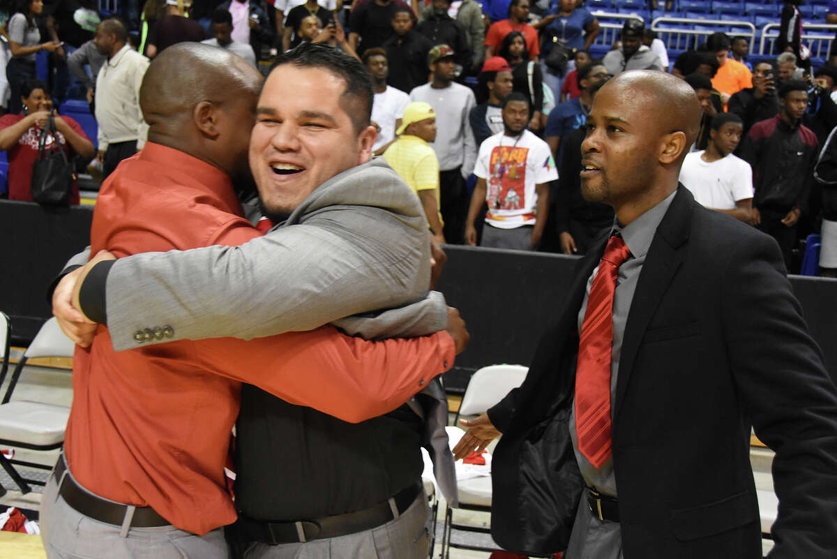 Cy Lakes head coach Emmanuel Olatunbosun was happy to discuss how the 2017 season was going, but not without assistant coaches Tony Herrera and Andrew Cross. Cross and Herrera, who were assistants on the prior season's Regional Finals team, acted as a calming, stabilizing presence for Olatunbosun as the team struggled, finishing with a losing record for the first time since the Spartans began varsity play. And despite the adversity, coaching has been as fun as ever for the three.