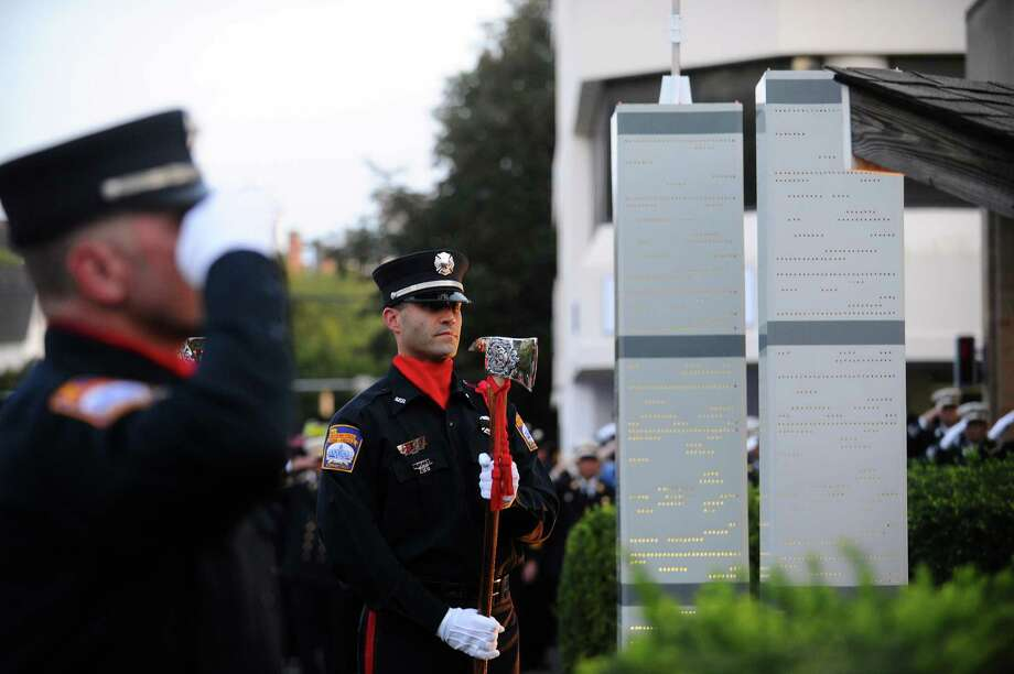 Photos from the annual 9/11 ceremony at Woodside Fire Station on Washington Boulevard in downtown Stamford, Conn. on Monday, Sept. 11, 2017. Photo: Michael Cummo, Hearst Connecticut Media / Stamford Advocate