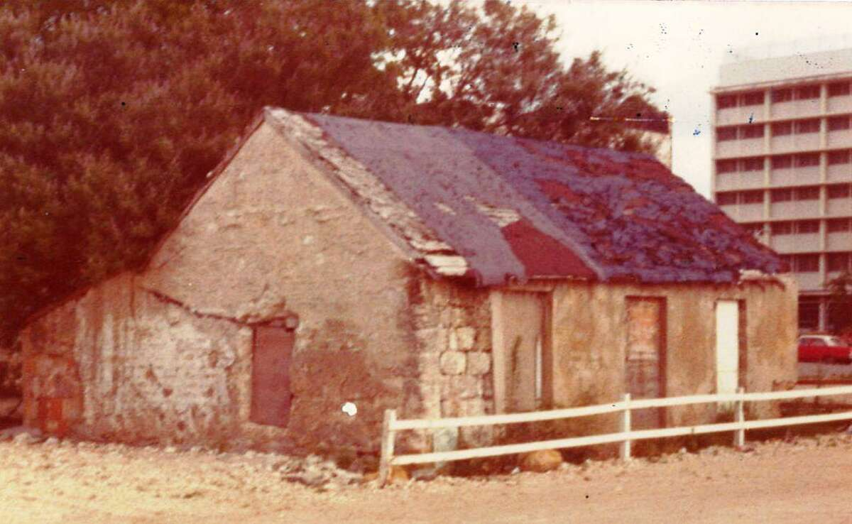 This photo of Melchor De la Garza's house at 118 S. Laredo was taken in May 1974 before David Carter's renovation of the property.