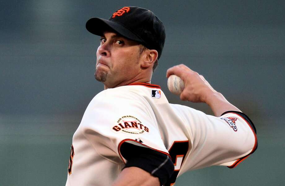 The Giants are affording Ryan Vogelsong the opportunity they gave J.T. Snow in 2008 — to return for one final game so he can retire in the black and orange. Photo: Lance Iversen, The Chronicle
