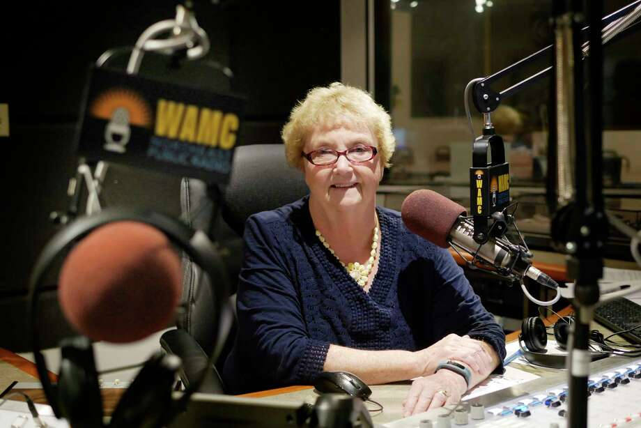 Wanda Fischer poses in the studio at WAMC on Monday, Sept. 11, 2017, in Albany, N.Y.  Fischer, who hosts the radio show.      (Paul Buckowski / Times Union) Photo: PAUL BUCKOWSKI / 40041518A
