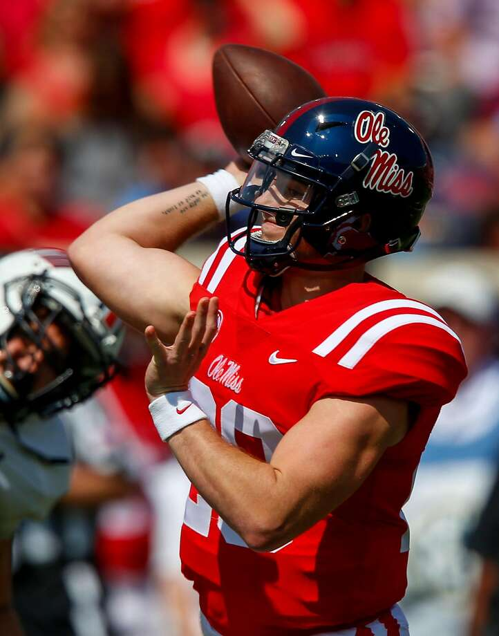 Mississippi's Shea Patterson has completed 76.9 percent of his passes this season. Photo: Butch Dill, Getty Images