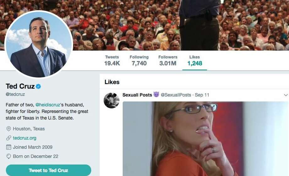 Ted Cruz's Twitter gaffe has the Internet mocking the conservative politician. Photo: TWITTER