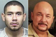 Efrain Hernandez allegedly killed Hector Benavides Sr., 57, in the parking lot of a strip mall Benavides owned.