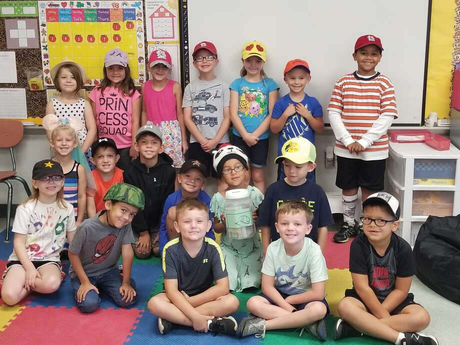 Students at Leclaire Elementary School took part in the Hats for Harvey effort on Friday. The Edwardsville High School Student Council and the Business and Professionals of America teamed up in a campaign to raise money to donate to the American Red Cross to help those impacted by Hurricane Harvey. Photo: Lacey Barnett • Intelligencer