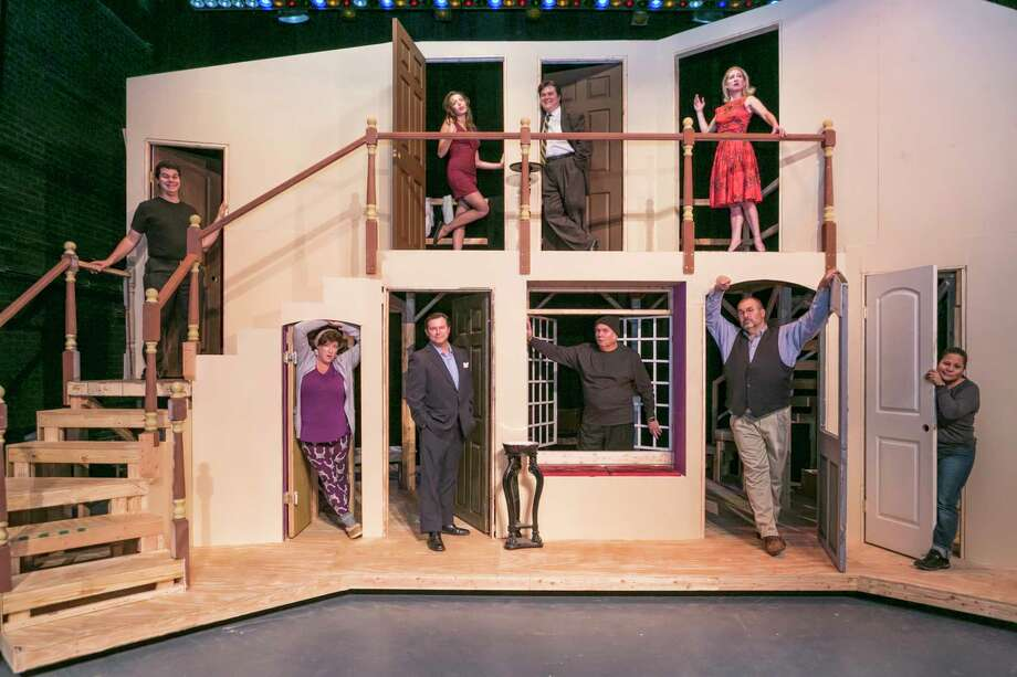 "The cast of Stage Right's ""Noises Off"" at the Crighton Theatre. The show opens on Thursday. The first show on Sept. 14 is a free, non-ticketed event. Ticketed performances start on Sept. 15 and continue weekends through Sept. 24. Photo: Michael Pittman / Michael Pittman all rights reserved"