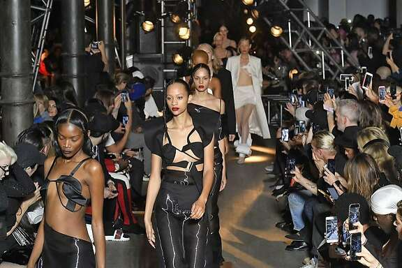 Helmut Lang Seen by Shayne Oliver Spring Summer 2018 collection finale. MUST CREDIT: Photo for The Washington Post by Marcelo Soubhia, MCV Photo