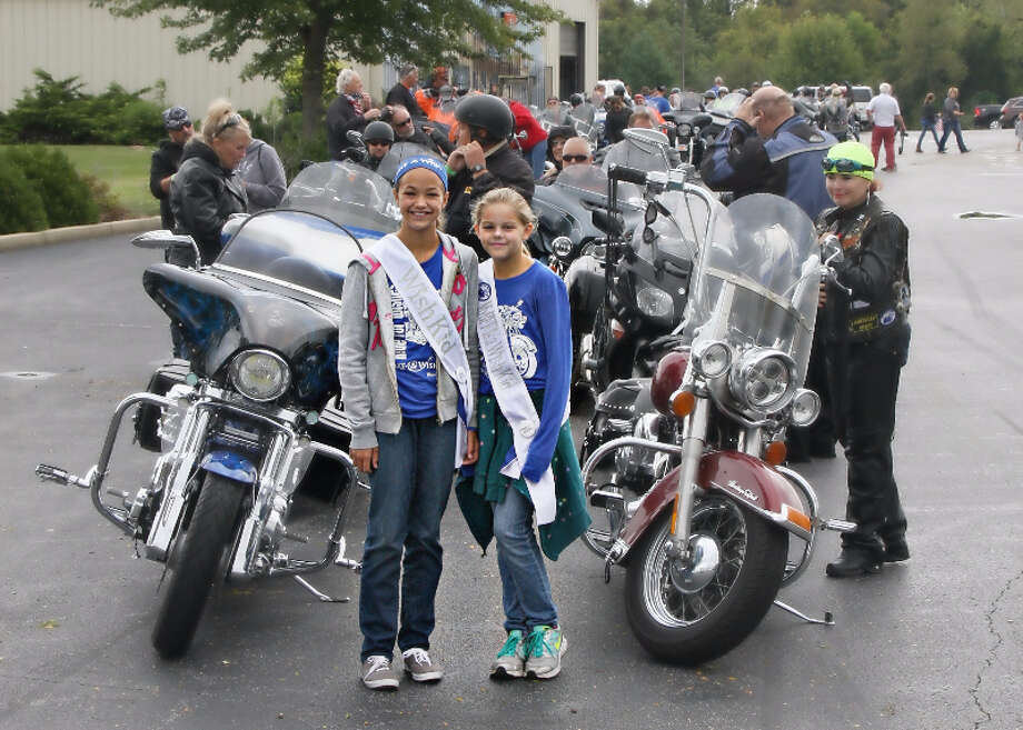 Wish Child Alivia at left, at the start of last year's ride, will be back as a guest of honor at the fourth annual Ride for Wishes. Photo: For The Intelligencer