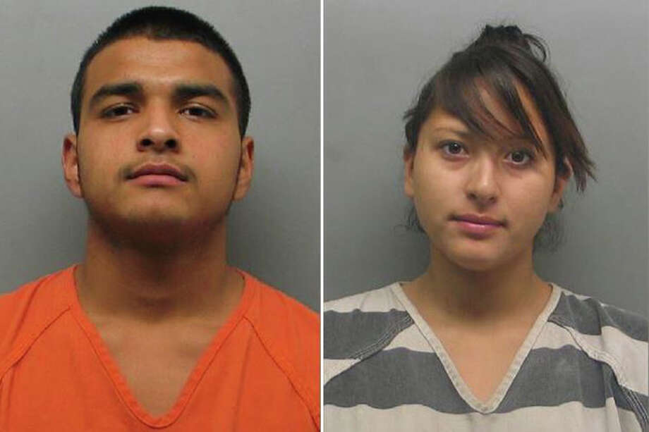 Gilberto Alejandro Arevalo and Alexandra Villalobos pleaded guilty for their respective roles in an assault of a 54-year-old man and pregnant woman at a Laredo-area Walmart. Photo: Webb County Sheriff's Office