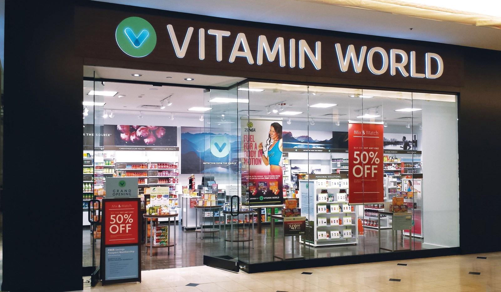 Vitamin retail stores