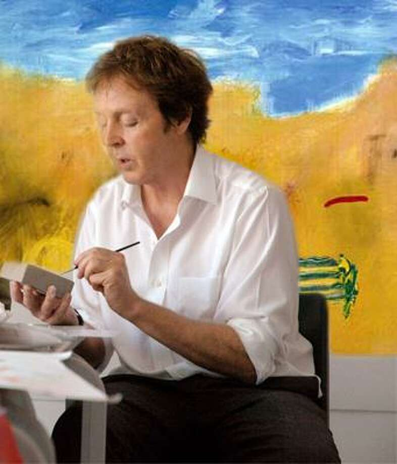 Paul McCartney painting. Photo: Contributed Photo