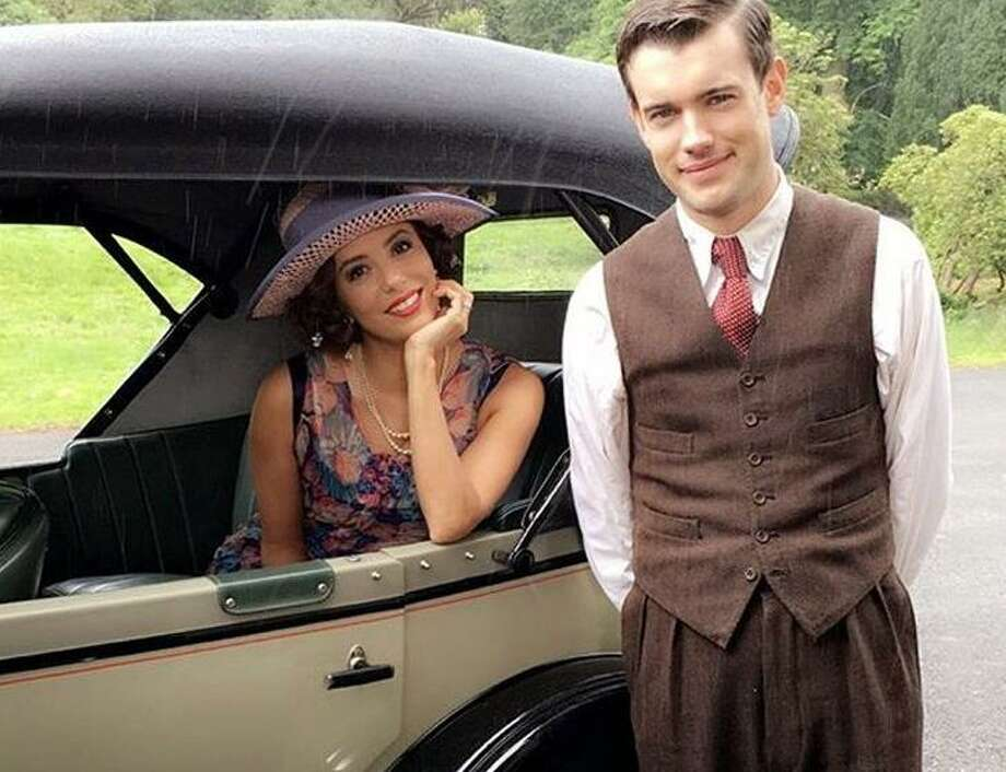 """Eva Longoria has her eyes on handsome young teacher Jack Whitehall in """"Decline and Fall."""" Photo: Acorn Media"""