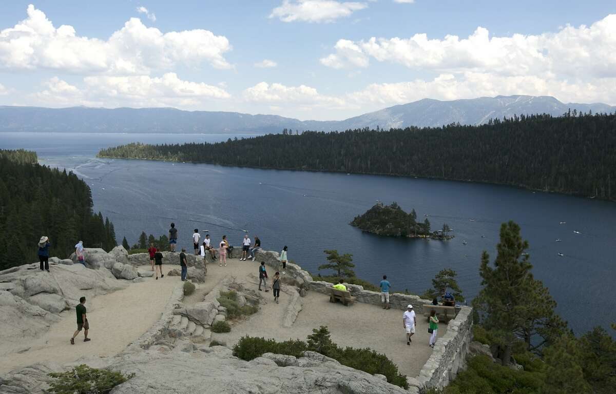 Visitors view Emerald Bay on the west shore of Lake Tahoe, near South Lake Tahoe, Calif. Mark Zuckerberg has reportedly purchased an estate on the west shore.