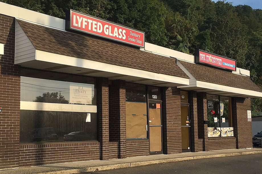 130 Federal Road: A plaza across the street from Stew Leonard's in Danbury will soon welcome two new tenants: Lyfted Glass and Ice Monster. The businesses will fill the vacancies left by Fast Signs and the Phone Specialists. Lyfted Glass will be a smoke shop and Ice Monster will serve Thai ice cream. Ice Monster is scheduled to open this week. Photo: Chris Bosak / Hearst Connecticut Media / The News-Times