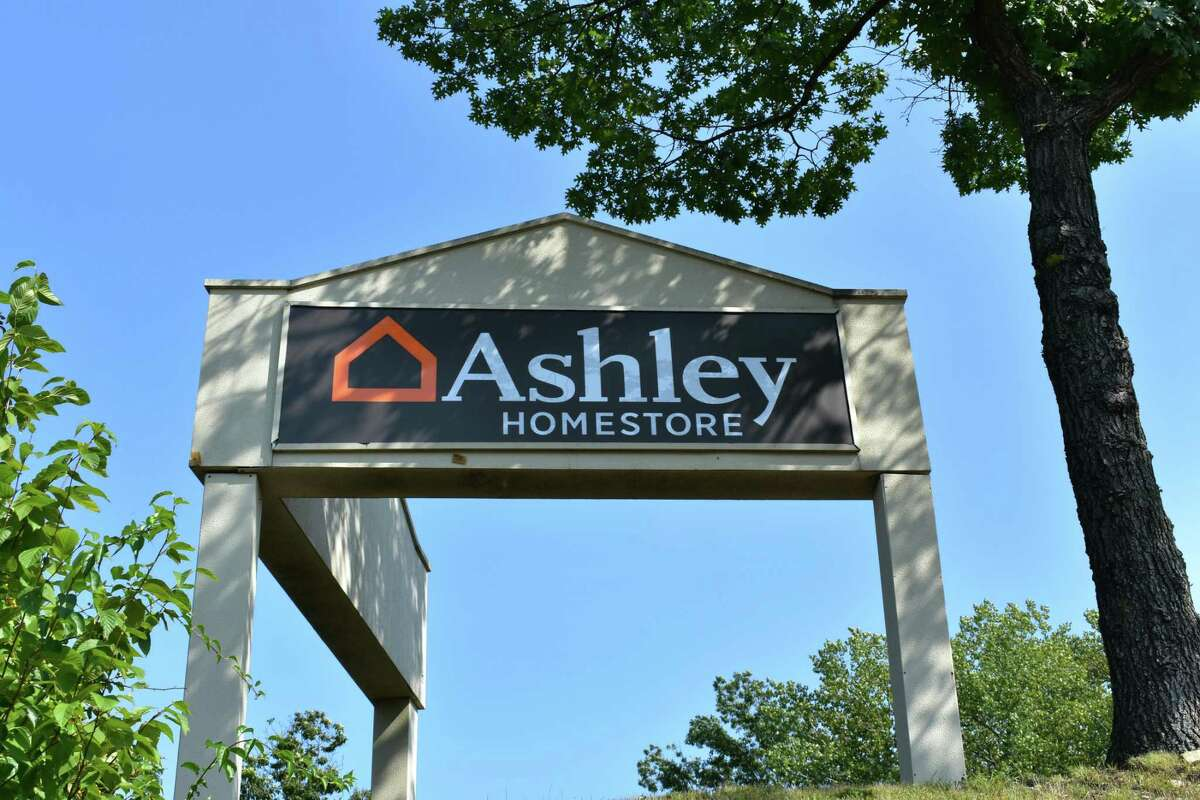 Ashley HomeStore signage facing Richards Ave. in Norwalk, Conn. in mid-September 2017, with the furniture retailer having spent the summer readying a Staples retail store for its own use. More than 220 people to date have applied for full-time sales jobs on the Indeed.com job board, with the furniture retailer having yet to publish a planned opening date.