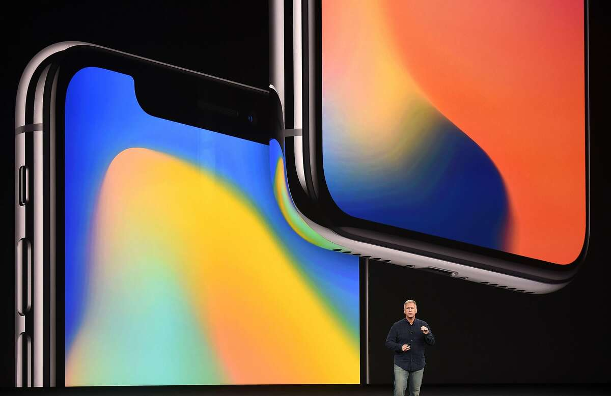 Senior Vice President of Worldwide Marketing at Apple Philip Schiller speaks about the iPhone X during a media event at Apple's new headquarters in Cupertino, California on September 12, 2017.