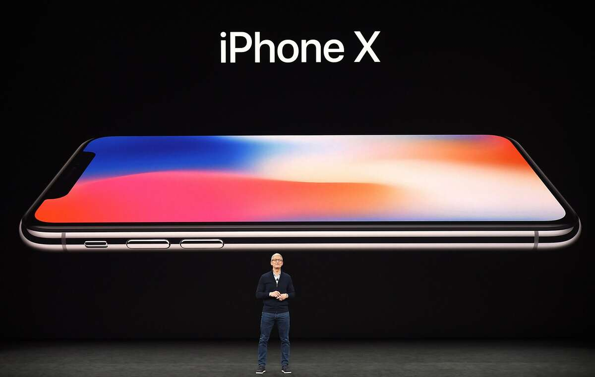 Apple CEO Tim Cook speaks about the new iPhone X during a media event at Apple's new headquarters in Cupertino, California on September 12, 2017.