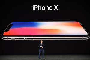 Apple CEO Tim Cook speaks about the new iPhone X during a media event at Apple's new headquarters in Cupertino, California on September 12, 2017.  / AFP PHOTO / Josh EdelsonJOSH EDELSON/AFP/Getty Images