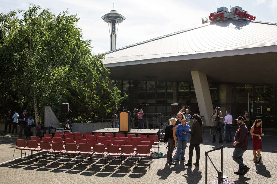 Mayor Ed Murray was scheduled to discuss KeyArena plans and a Memorandum of Understanding with Oak View Group, but was cancelled last minute after a story broke about a fifth man accusing the mayor of sexual abuse, on Tuesday, Sept. 12, 2017. Photo: GRANT HINDSLEY, SEATTLEPI.COM / SEATTLEPI.COM