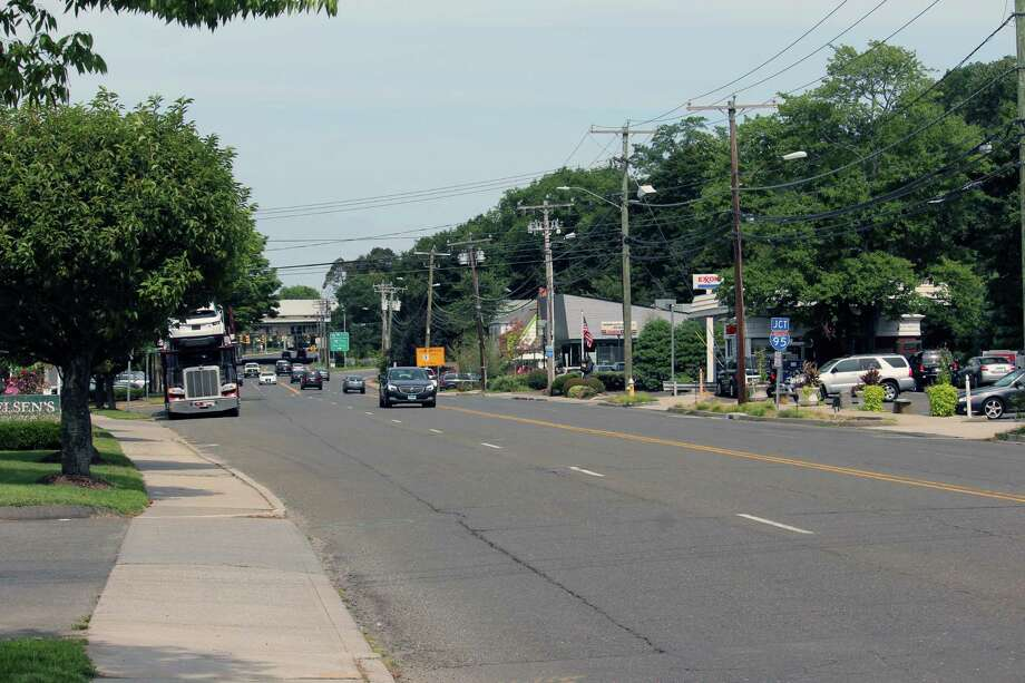 The stretch of Post Road between the Darien Library and Shake Shack over which residents have expressed concern about pedestrian safety. On Aug. 28, 2017 in Darien, Conn. Photo: Justin Papp / Hearst Connecticut Media / Darien News