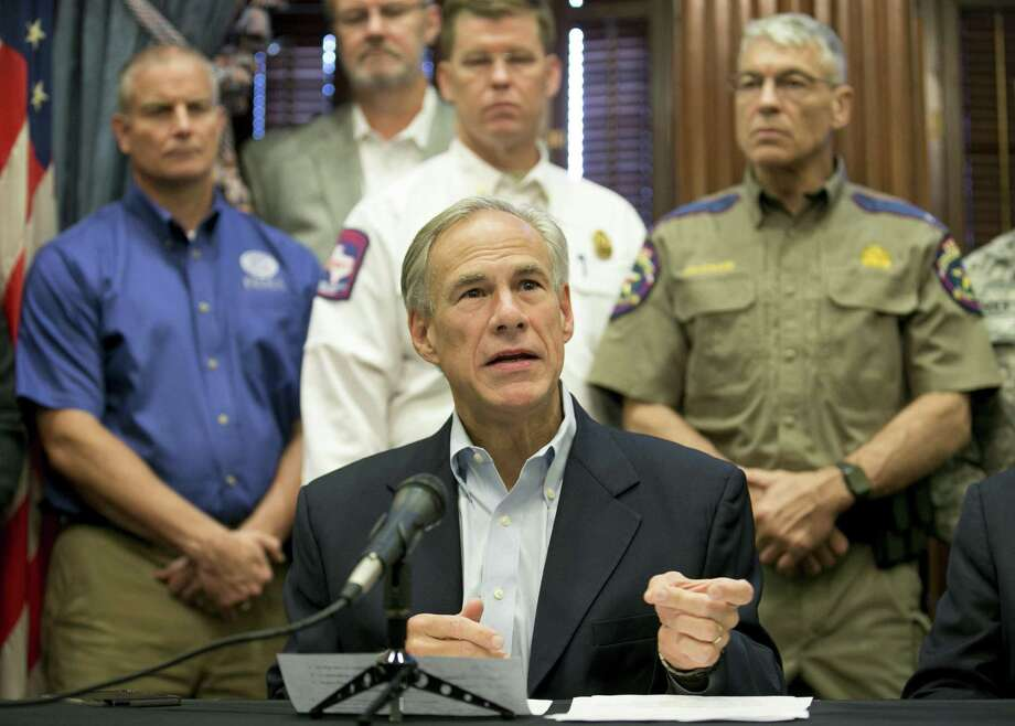 Gov. Greg Abbott talks about the effort to recover from Hurricane Harvey at a Sept. 7 news conferencein Austin. Photo: Jay Janner /Austin American-Statesman / Austin American-Statesman