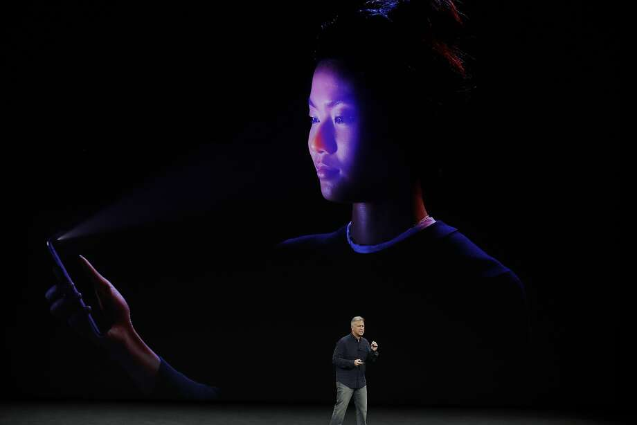Phil Schiller, Apple's senior vice president of worldwide marketing, announces features of the new iPhone X at the Steve Jobs Theater on the new Apple campus on Tuesday, Sept. 12, 2017, in Cupertino, Calif. (AP Photo/Marcio Jose Sanchez) Photo: Marcio Jose Sanchez, Associated Press