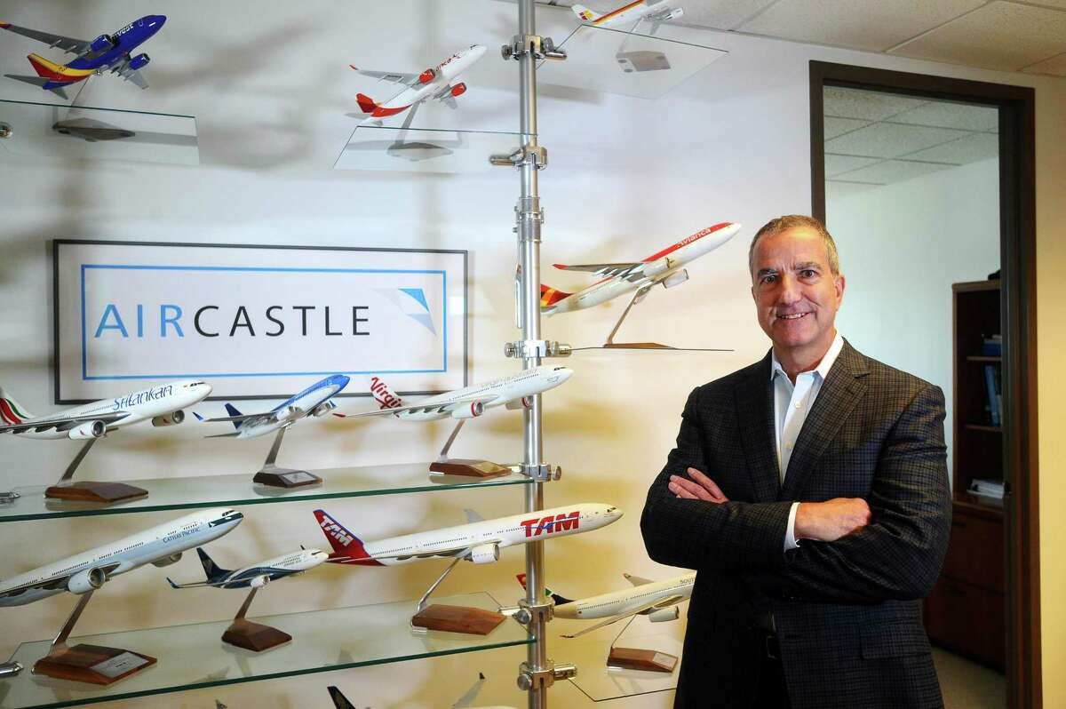 Aircastle CEO Michael Inglese poses for a photo inside the company's headquarters in the First Stamford Place complex in Stamford, Conn., on Thursday, Sept. 7, 2017.