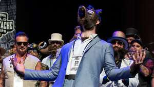 Isaiah Webb, Full Beard Freestyle 2nd place winner and the winner of the Big Joe Johnson Showmanship Award attends the 2017 Remington Beard Boss World Beard & Moustache Championships held at the Long Center for the Performing Arts on September 3, 2017 in Austin, Texas.