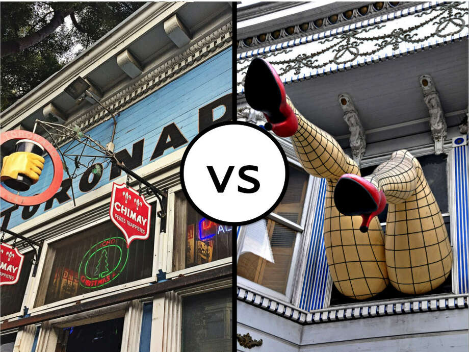 Is the Upper or Lower Haight superior? Photo: Alisa Scerrato/Hoodline (left) And Jennifer Boyer/Flickr (right)