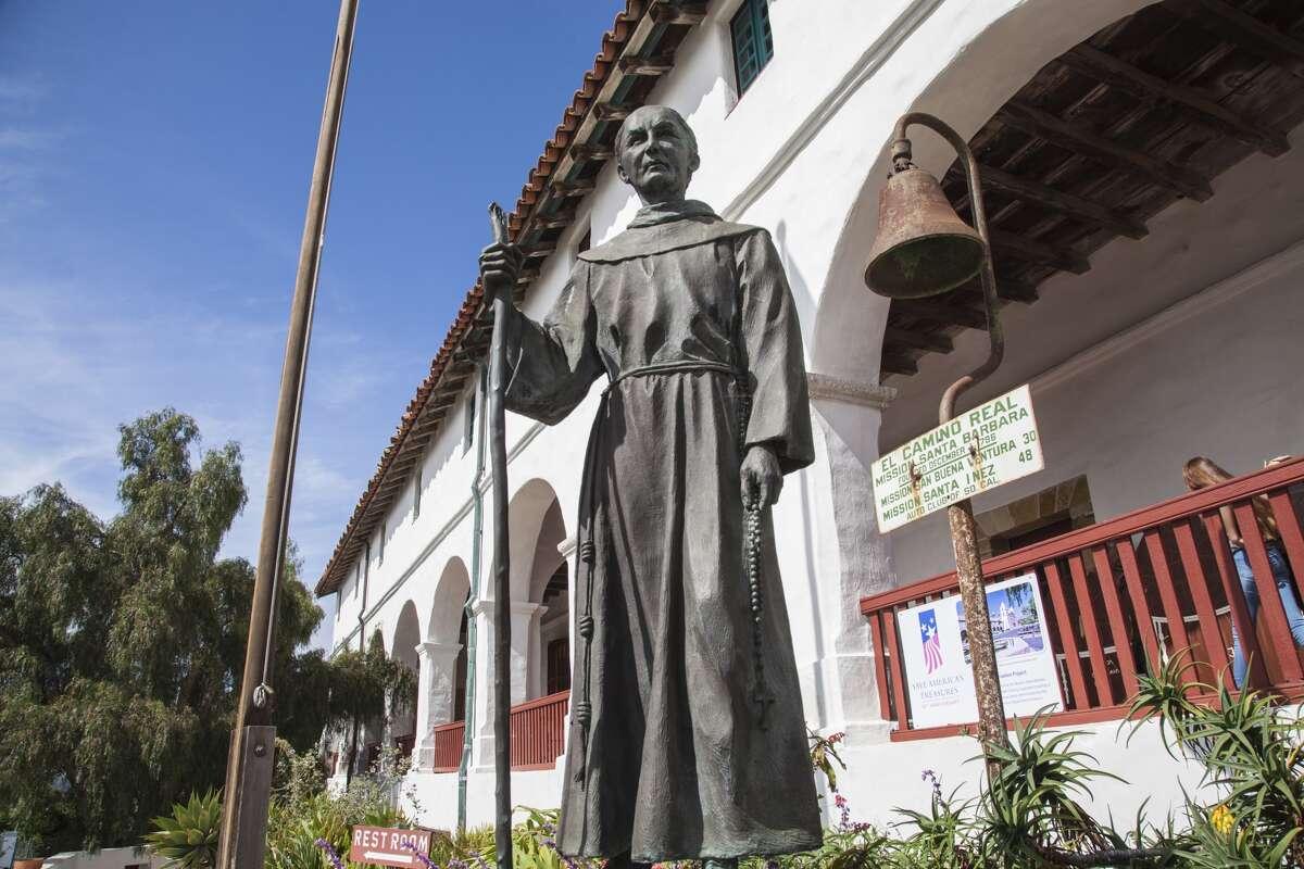 Father Junipero Serra, Mission Santa Barbara, Santa Barbara, California, USA.