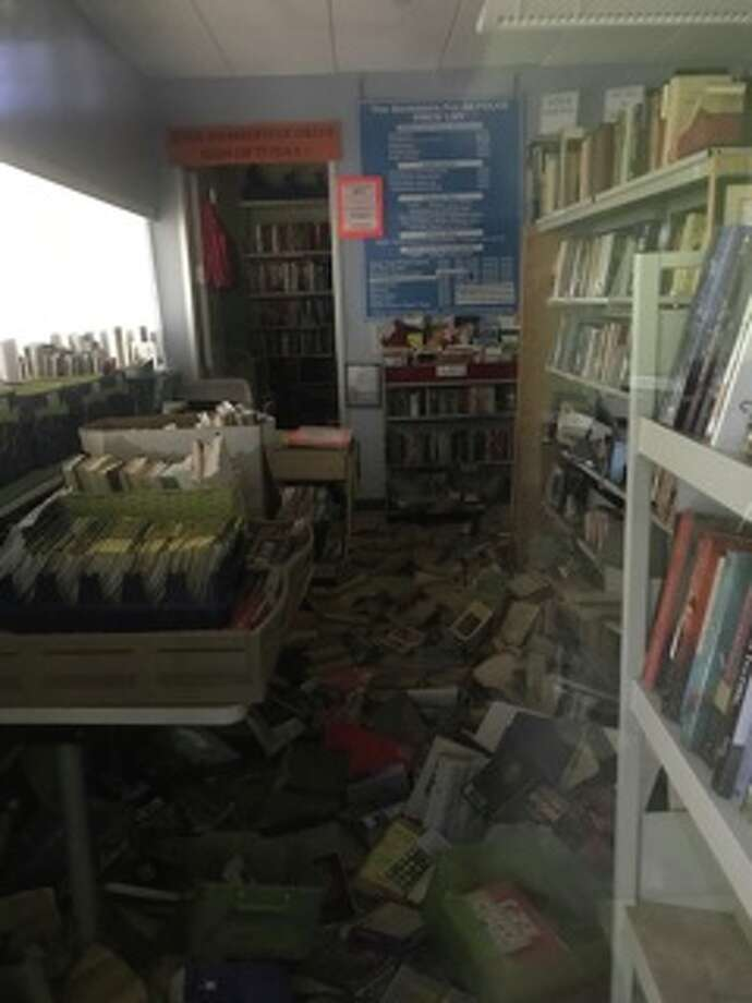 The Kingwood Branch Library's Used Book Store sustained damage during flooding from Harvey. Photo: Kingwood Branch Library