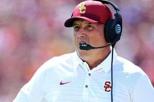 Clay Helton has won 11 consecutive games at USC.