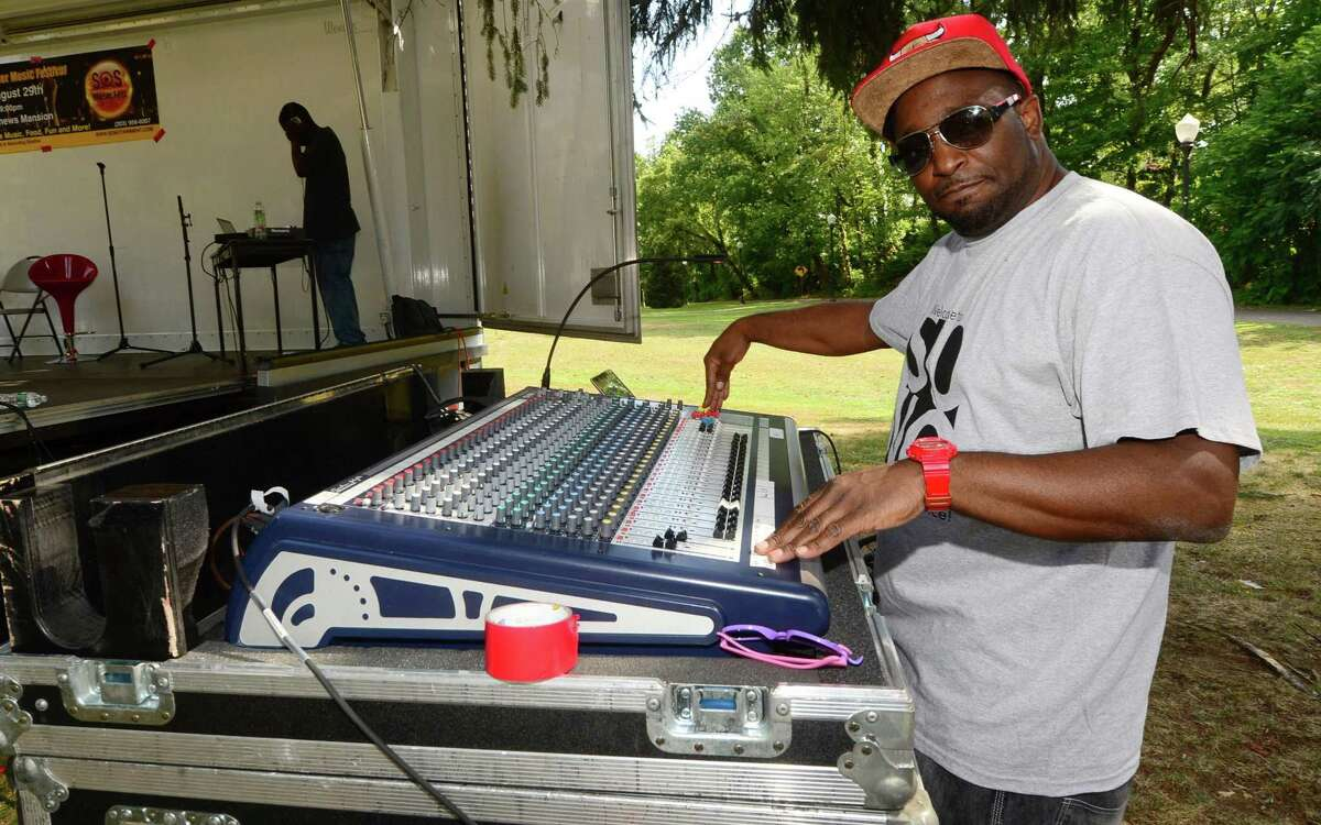 """John """"Dolo"""" Ragin and his wife organized the first Sounds of Summer Music Festival 10 hip hop artists from Norwalk and the surrounding towns performed at Mathews Park on Saturday, August 29, 2015, in Norwalk, Conn."""