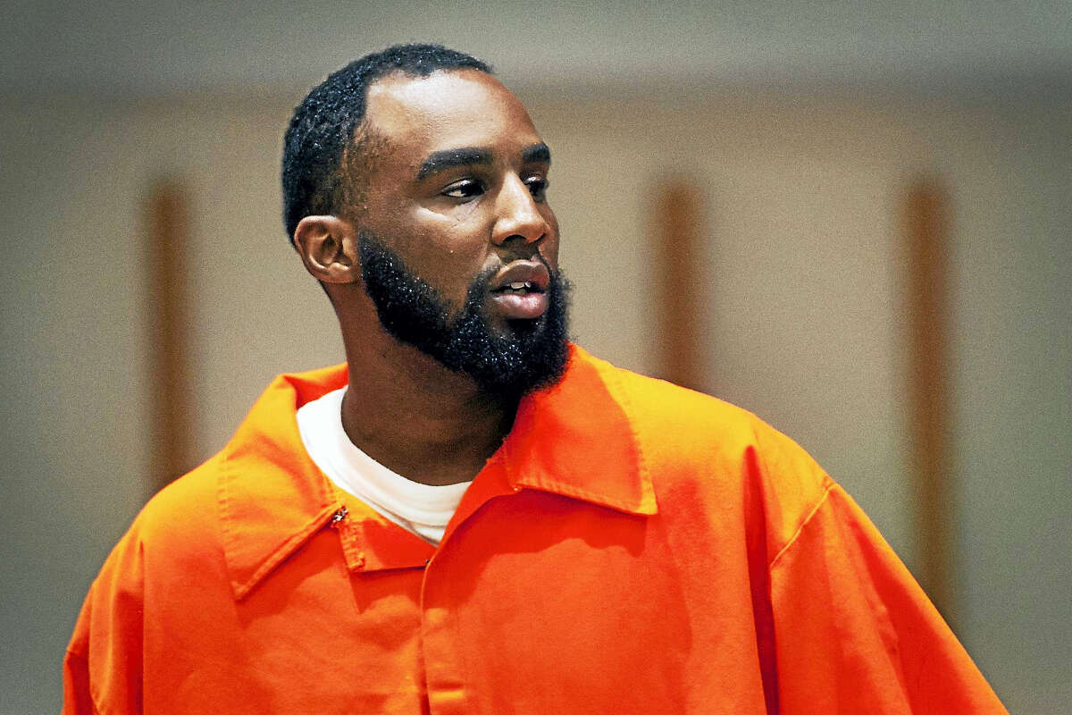 Leighton Vanderberg speaks at his sentencing hearing in Bridgeport Superior Court in Bridgeport in July. Vanderberg was sentenced to 40 years in prison for fatally shooting Jose Salgado in his Bridgeport neighborhood grocery store in 2015.