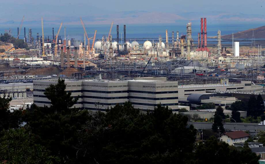 The Chevron refinery in Richmond. A study by researchers affiliated with the Union of Concerned Scientists listed 90 firms the worst climate-change culprits. Photo: Michael Macor, The Chronicle