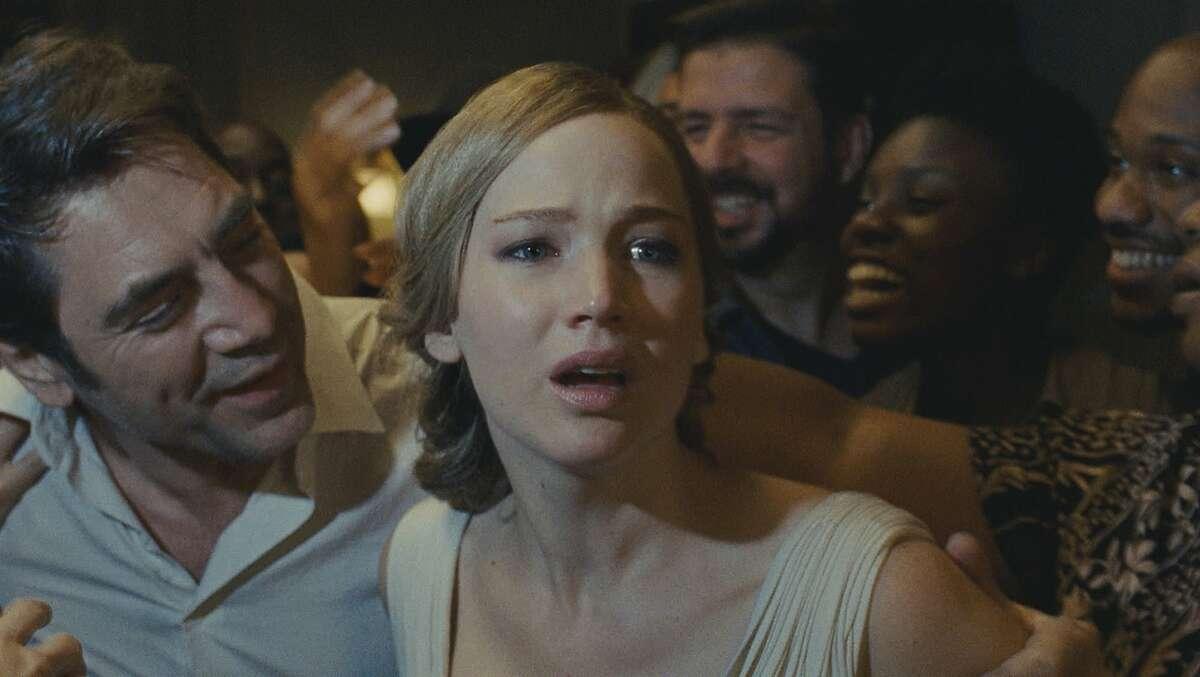 Javier Bardem and Jennifer Lawrence in Darren Aronofsky's
