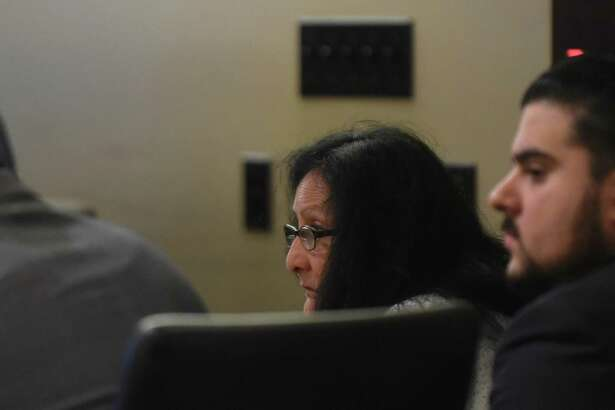 Gloria Proo, convicted Monday of injury to a child/severe bodily injury by omission in the 2012 death of Josiah Williams, 5, sits in 379th District Court during the punishment phase of her trial.